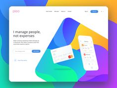 "Pleo header exploration by Prakhar Neel Sharma. ""Tried to play more with colors and show that finance can be more than playful. All feedback are welcome! Landing Page Inspiration, Web Inspiration, Page Design, Ui Design, Graphic Design, Design Ideas, Design Layouts, Email Design, Sketch Design"