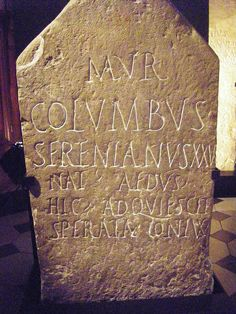 Roman headstone, Museum, Nimes. | Flickr - Photo Sharing!