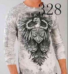 Men Affliction Long Sleeve Shirt-033