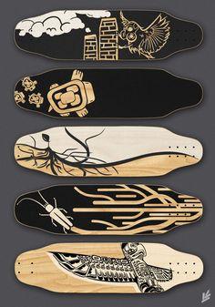 Skateboard Grip Tape Art