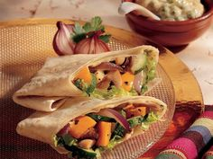 Roasted Vegetable Wraps with Garlic Aioli- again another recipe that I will refer to quite often! looks good, easy ingredients, definitely have to try