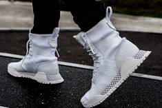 newest 7b360 0c79a ADIDAS ORIGINALS AF PRIMEKNIT BOOT WHITE VINTAGE WHITE BY3007