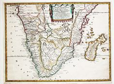 Antique map of South Africa #antique #maps #Africa