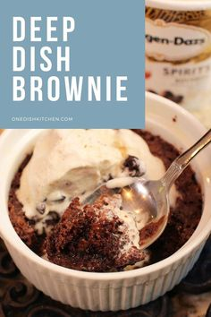 Rich and fudgy deep dish brownie with a crispy top and an extra fudgy center. The only single serving brownie recipe you need! Brownie Recipes, Pie Recipes, Single Serve Brownie, Slushie Recipe, Single Serving Recipes, Summer Dessert Recipes, Slushies, Deep Dish, Ice Cream Recipes