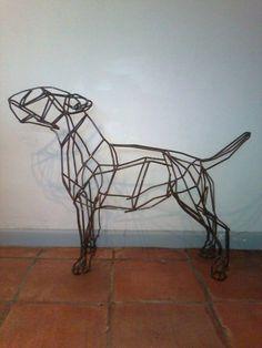 6mm mild steel bar Dog sculpture by artist Emma Walker titled: 'bull terrier dog' £667 #sculpture #art