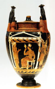 Lebes gamico, IV a.C. Museo Archeologico Regionale Paolo Orsi, Siracusa. Cultura greca e magno-greca