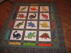 Vincent's Dinosaur Quilt made by sao 2007
