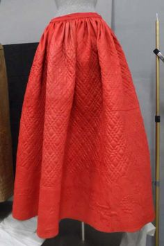 Quilted Petticoat. 1758. Gift of the Lyman Allyn Museum. 1959.54.2.