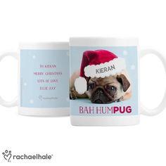 Personalised Rachael Hale Christmas Mug - Bah Hum Pug Personalized Christmas Mugs, Pug Mug, Pugs, Merry Christmas, Merry Little Christmas, Merry Christmas Love, Pug, Pug Dogs