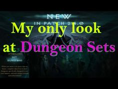 My Only Look at Set Dungeons PTR 2.4 [Diablo 3 ROS] - YouTube