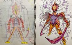 [Part 2] Professional Anime Artist Turns His Sons' Sketches Into Amazing Anime Characters – grape