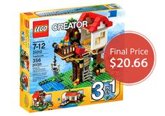 """Forty-four LEGO sets are on rollback forup to 31% off at Walmart. Items will sell out fast, so shop early for best selection! TheLEGO Creator Treehouse Play Set is only $20.66. Normally, the set sells for near $30.00. Compare to $33.99 at Toys """"R"""" Us. Select the free store pickup option to avoid shipping fees. …"""