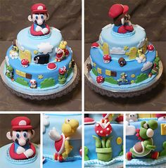 Super Mario Brothers Birthday Party Cake