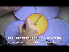 Manualidades Paso a Paso. Reloj Infantil. Pintura Country - YouTube