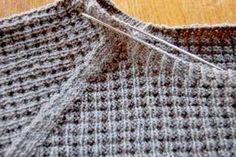 pullover stricken Anleitung: Attraktiven Pullover stricken - in einem Stück