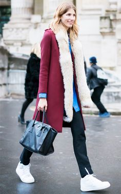 Tip of the Day: How to Style a Furry Scarf via @WhoWhatWear
