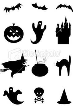 Halloween silhouettes - would be cute for freezer paper shirts