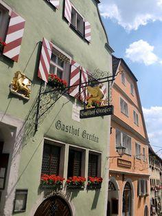 Hotle I stayed at in Rothenburg ob der Tauber, Germany