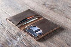 Bolsillo monedero Billetera de cuero cuero Billetera por JooJoobs