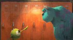 Disney and Pixar Concept Art - Monsters University Pixar Concept Art, Disney Concept Art, Disney Art, Walt Disney, Disney Pixar, Disney Films, Drawing Cartoon Characters, Character Drawing, Character Design