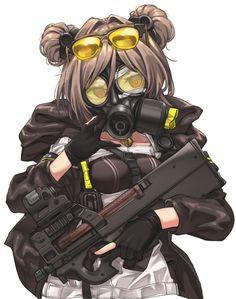 Art Anime, Anime Oc, Anime Angel, Kawaii Anime, Anime Military, Military Girl, Rainbow Six Siege Anime, Guerra Anime, Lolis Neko