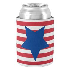 Tribute To Freedom July 4th Beverage Can Cooler
