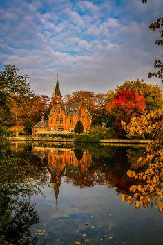 Mirror Lake, Bruges, Belgium