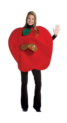2020 Rasta Imposta Apple with Worm Costume and more Food Costumes for Women, Funny Costumes for Women, Women's Halloween Costumes for Funny Group Costumes, Teacher Costumes, Book Day Costumes, Fruit Costumes, Halloween Costumes To Make, Diy Costumes, Costumes Faciles, Fancy Dress, Dress Up
