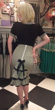 Paris In Spring Stripe Pencil Skirt