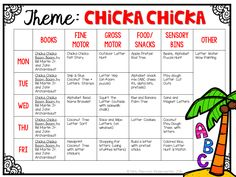 Tons of Chicka Chicka Boom Boom Ideas for Tot School, Preschool or kindergarten!