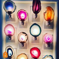 Agate Slice Night Lights // Buy More and Save // Royal Suzie Boho Decor // Nightlight // U. Matching Paint Colors, Sensor Night Lights, Modern Home Furniture, Paint Stripes, Old Wall, Home Improvement Projects, Decoration, Vintage Decor, Boho Decor