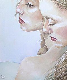 """""""Feminidad""""este es el titulo e una de mis nuevas acuarelas. En#etsy: Lámina acuarela original https://etsy.me/2IqgEb0 #arte #pintura #mujer #feminidad #cuadro #acuarela #ilustracion #hechoamano #acuarelaoriginal"""