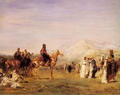 معسكر العرب في جبال الاطلس ، الرسام الفرنسي اوجين فرومونتان