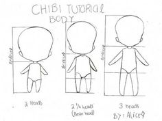 How To Draw Chibi Tutorial Body, text; How to Draw Manga/Anime Drawing Skills, Drawing Techniques, Drawing Tips, Drawing Reference, Drawing Ideas, Drawing Lessons, Drawing Sketches, 3d Drawings, Cartoon Drawings