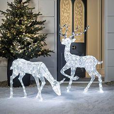 weihnachtsfigur rentier beleuchtet in warmwei f r innen und au en optimals als weihnachtsd. Black Bedroom Furniture Sets. Home Design Ideas
