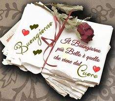 Italian Memes, Good Morning Good Night, Good Mood, Birthday Cards, Place Card Holders, Cristiani, Collage, Facebook, Coffee