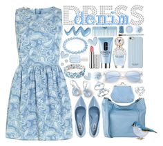 """""""~A Little Denim Dress~"""" by justwanderingon ❤ liked on Polyvore featuring Ippolita, Bling Jewelry, Dorothy Perkins, Dune, Cole Haan, Clinique, Essie, Isaac Mizrahi, Sue Devitt and Charter Club"""