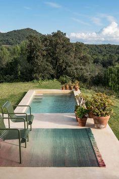 Backyard Pool Designs, Small Backyard Pools, Small Pools, Backyard Patio, Small Patio, Small Inground Pool, Backyard Retreat, Swimming Pools Backyard, Swimming Pool Designs