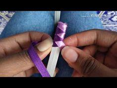 Diy Lace Ribbon Flowers, Kanzashi Flowers, Ribbon Art, Fabric Flowers, Handmade Rakhi Designs, Ribbon Braids, Hair Bow Supplies, Rose Crafts, Handmade Wire Jewelry