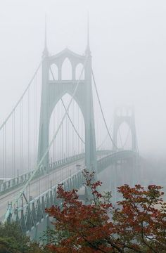 St. Johns bridge • Autumn fog