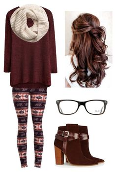 Thanksgiving outfit by janelee7549 on Polyvore featuring polyvore, fashion, style, Warehouse, H&M, Ray-Ban and clothing