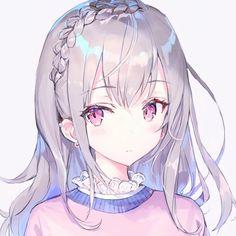 Anime Girl Cute, Beautiful Anime Girl, Kawaii Anime Girl, Anime Art Girl, Kawaii Art, Fan Art Anime, Anime Artwork, Girl White Hair, Anime Chibi