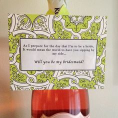 Wedding Gift Ideas For Future Sister In Law : My future sister-in-law is too cute* Will you be my bridesmaid? More