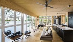 Exposed Cross Laminated Timber gives the interior a unique visual - Decoist