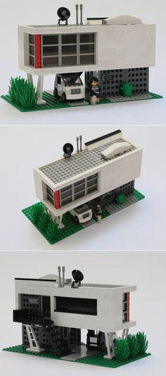 A modernist lego-land scaled house