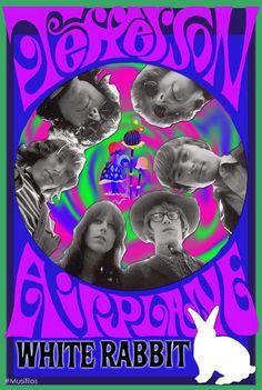 Póster promocional de la canción White Rabbit de Jefferson Airplane