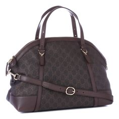 Dark Brown Leather Monogram Handbag - Designer Bags - Private sales  231d74ce87d91