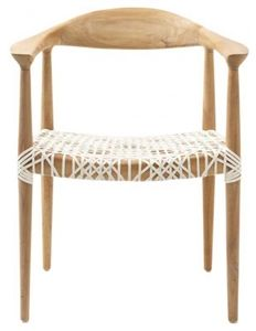 Gorgeous... need for my dining table  Bandelier Arm Chair - Safavieh