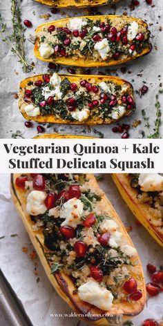 Veggie Recipes, Fall Recipes, Vegetarian Recipes, Holiday Recipes, Healthy Recipes, Vegetarian Side Dishes, Healthy Side Dishes, Vinegar Dressing, How To Cook Quinoa