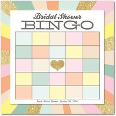 LOVE these Bridal Shower Bingo cards via boards.styleunveiled.com
